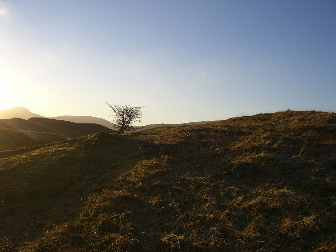 Winter sunlight between Watendlath and Borrowdale