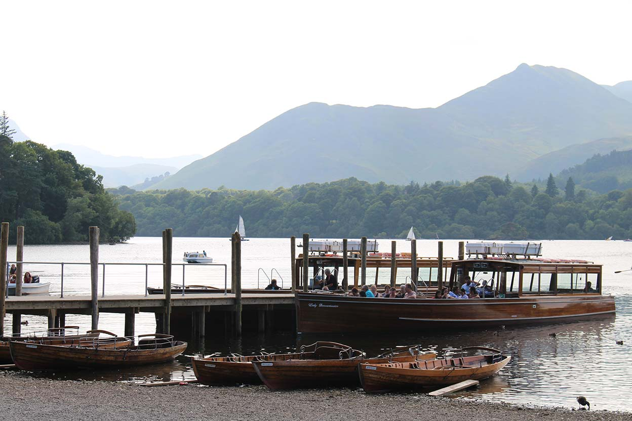 Keswick Launches at the landing stages in Keswick