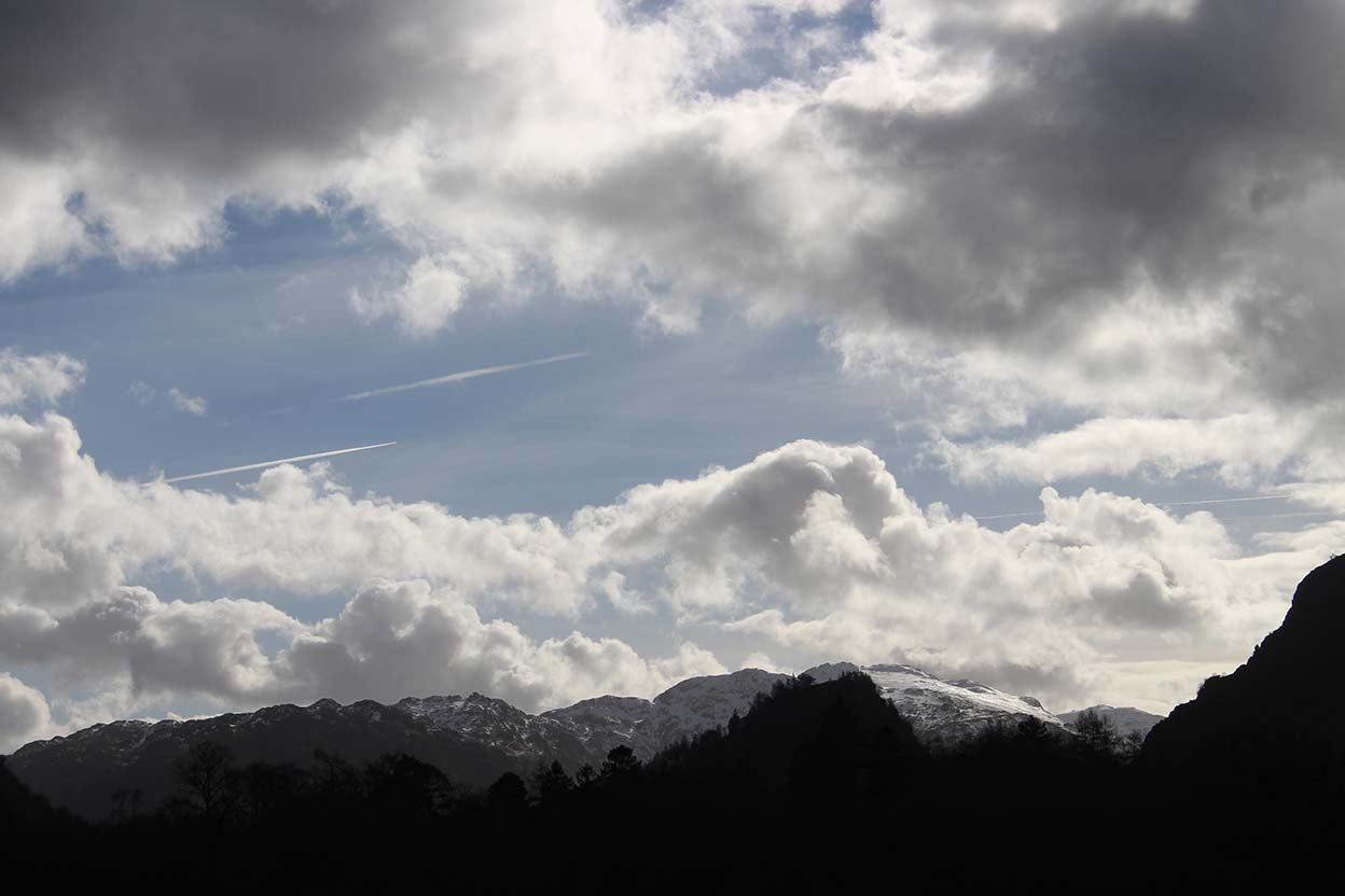 Snow on the Borrowdale Fells taken from Manesty