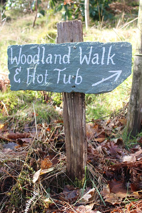 Directions in our wooded fellside garden