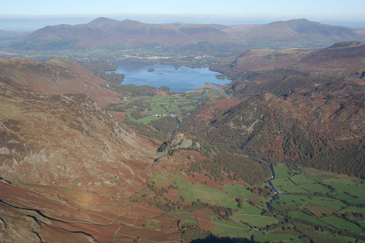 Borrowdale and Derwentwater looking towards Skiddaw
