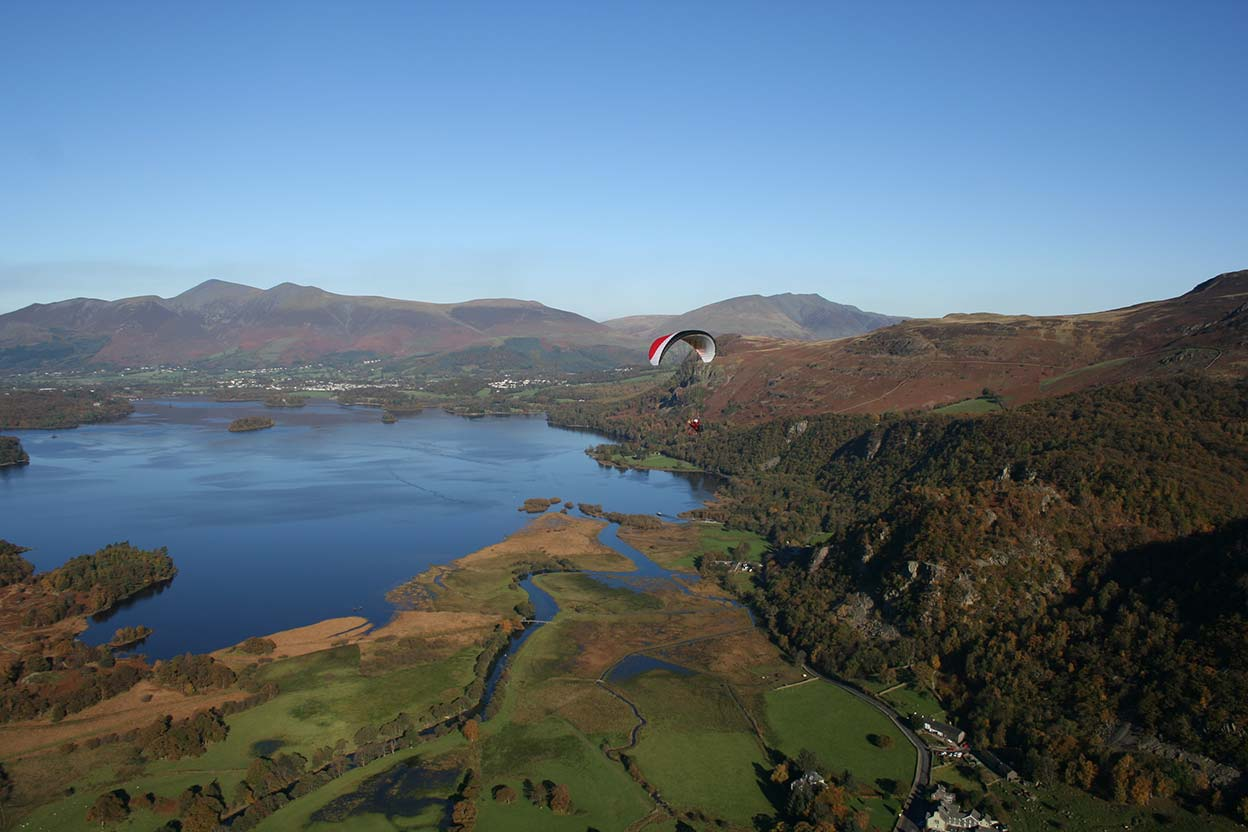Derwentwater Skiddaw Saddleback and eastwards