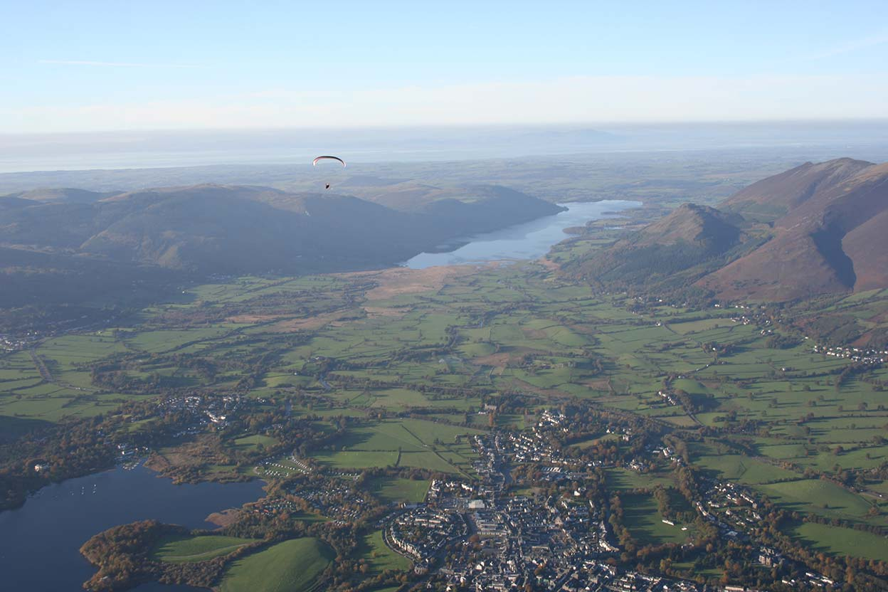Keswick looking down Bassenthwaite