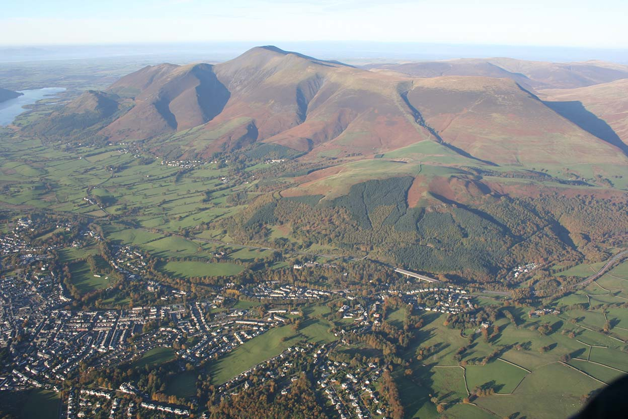 Keswick looking towards Skiddaw