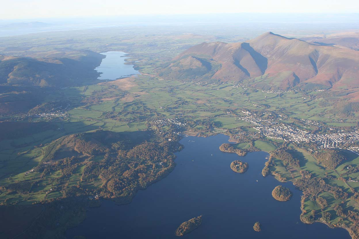 Northern Derwentwater Skiddaw and Bass Lake