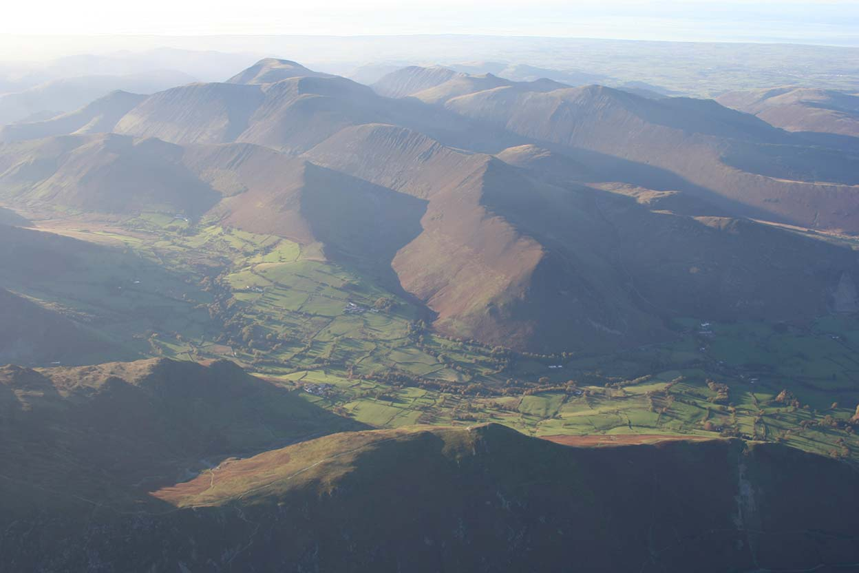 Newlands and Grassmoor over Catbells