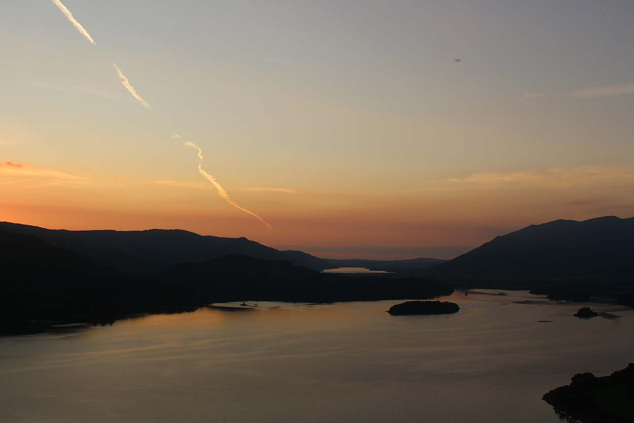 Sunset over Derwentwater from Surprise View