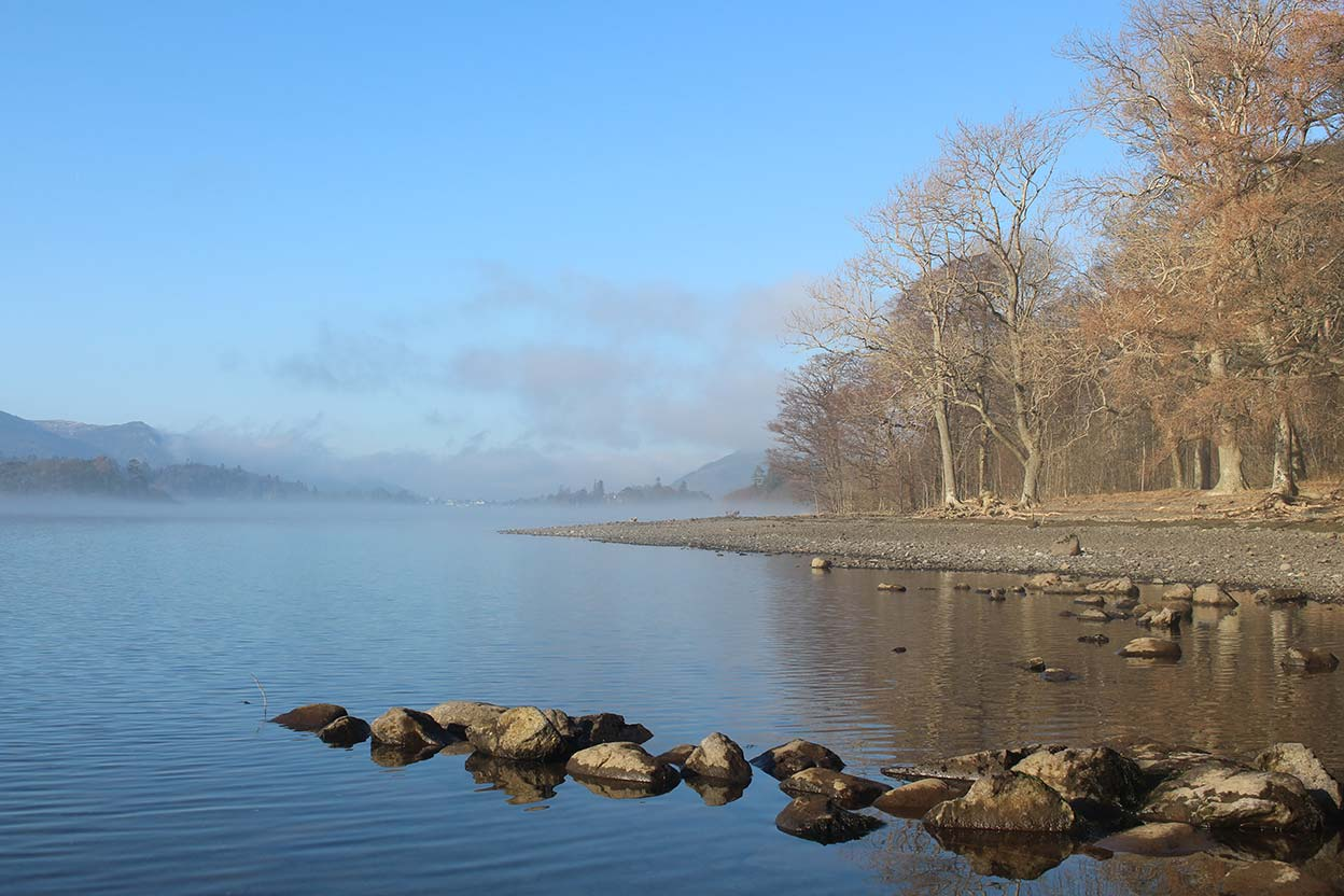 February mist and the east side of Derwentwater
