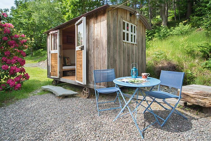 Tommy Bit, shepherd's hut, sleeps 2