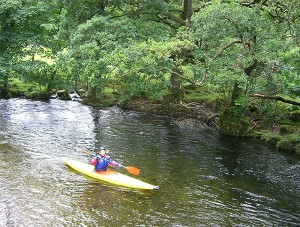 Kayaking on the River Derwent