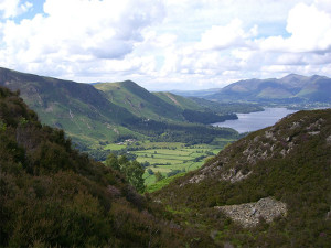 Manesty and Derwentwater from Kings How