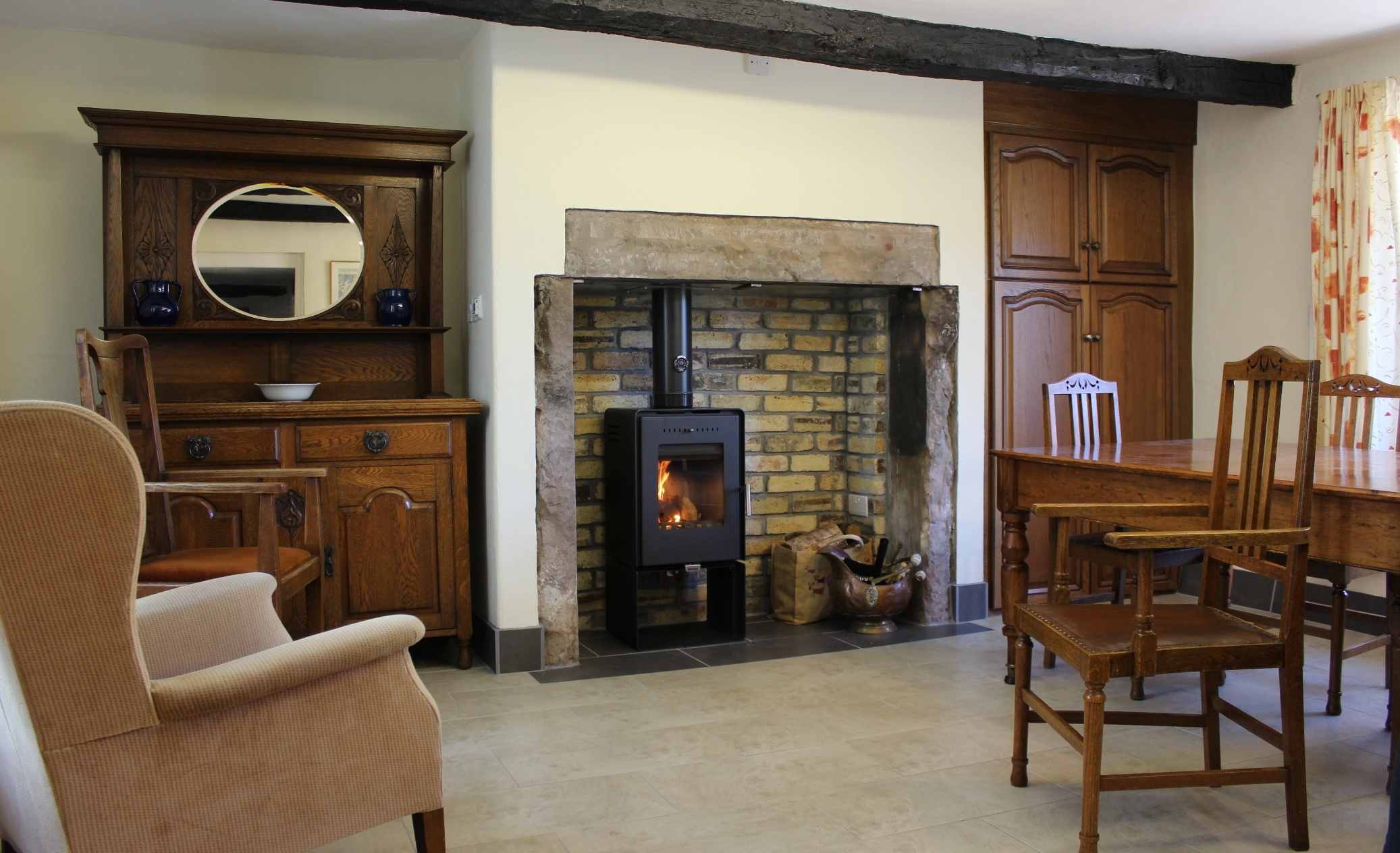 A new wood burning stove for Manesty
