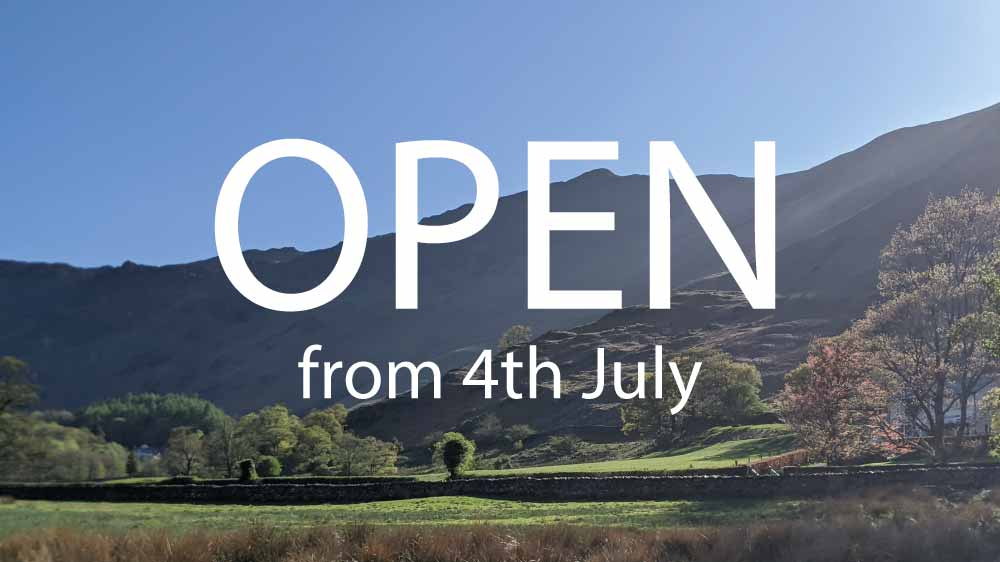 Re-opening on 4th July!